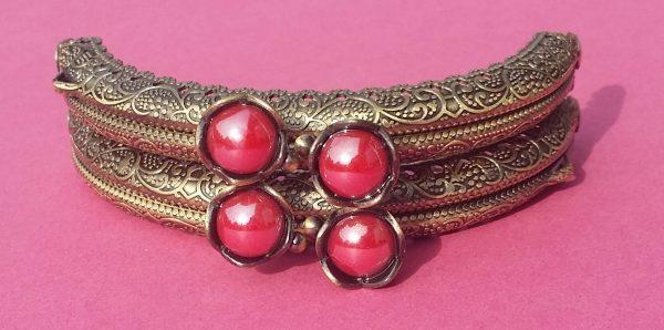 Portemonnée beugels rood vintage