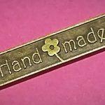 Handmade label (brons/vintage)