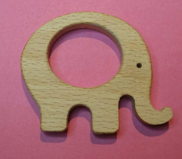 Houten olifant ring