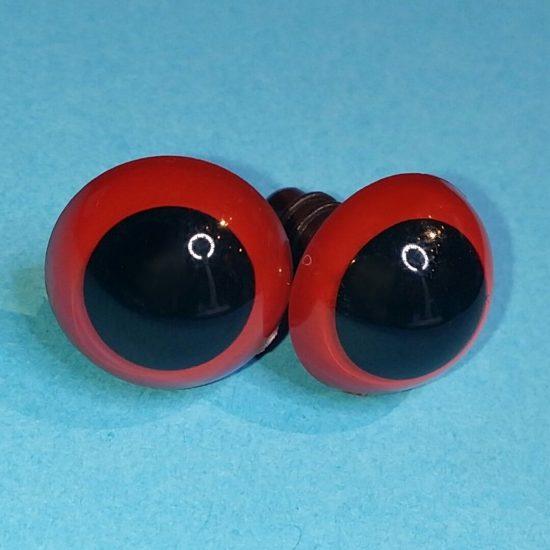 veiligheidsoogjes 15 mm rood haken en amigurumi