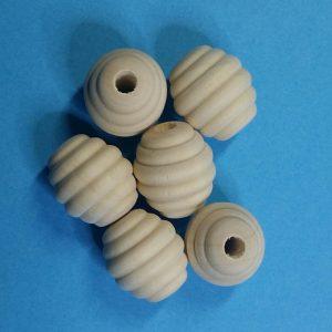 Houten kralen 20 mm honingraat