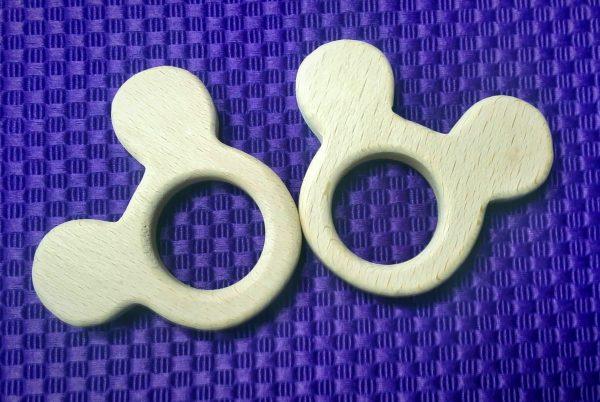houten bijtring mickey mouse houten hanger mickey mouse houten bijtring, rammelaar, wagenspanner