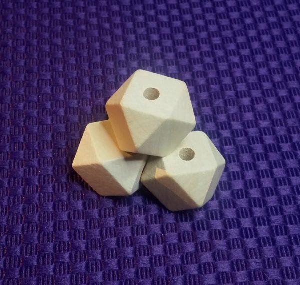 Houten kralen kraal 20 mm facet geslepen geometrisch