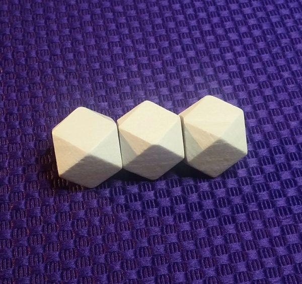 houten kraal 20 mm geometrisch