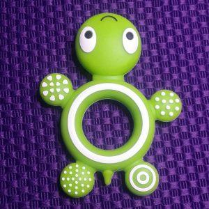 Siliconen bijtring schildpad groen