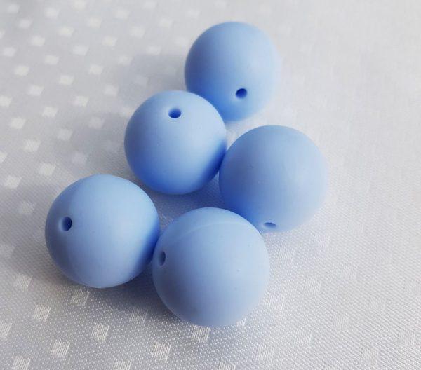 Siliconen kralen 20 mm lila /licht blauw