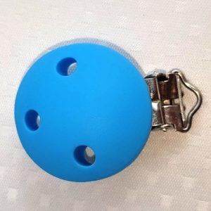 Siliconen speenclip blauw BPA-vrij siliconen CE-gecertificeerd