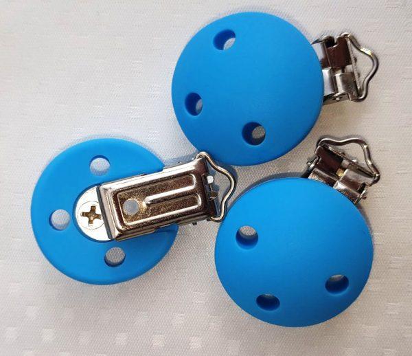 Siliconen speenclips blauw goedkope speenclips