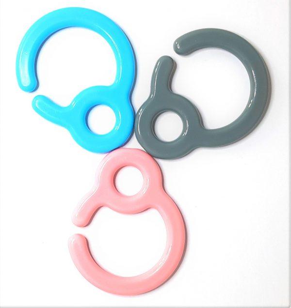 Speelkoord ring, speenkoord ring ook wel bekend als wagenhaak assortiment