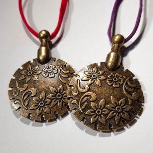 Garensnijders hanger clover antiek goud