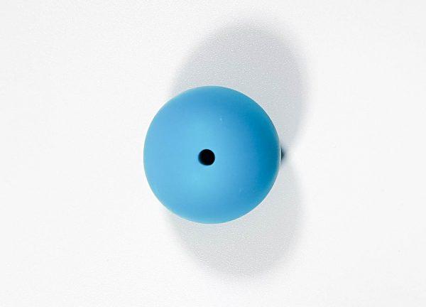 Siliconen kraal rond blauw