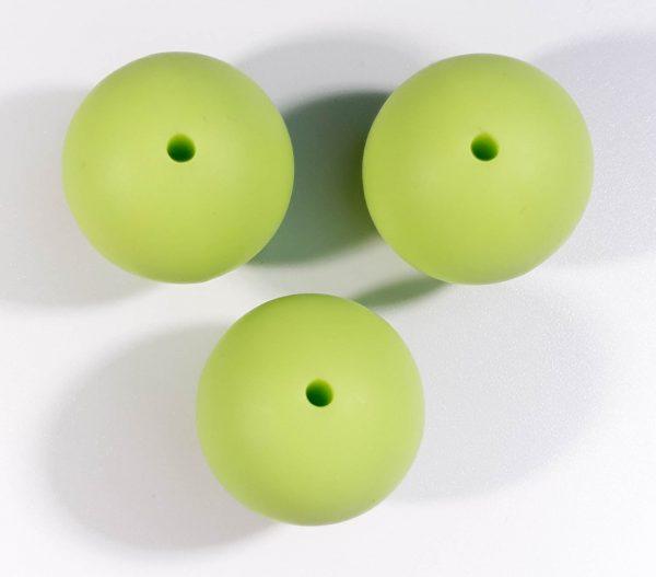 Siliconen Kralen haken appeltjes groen