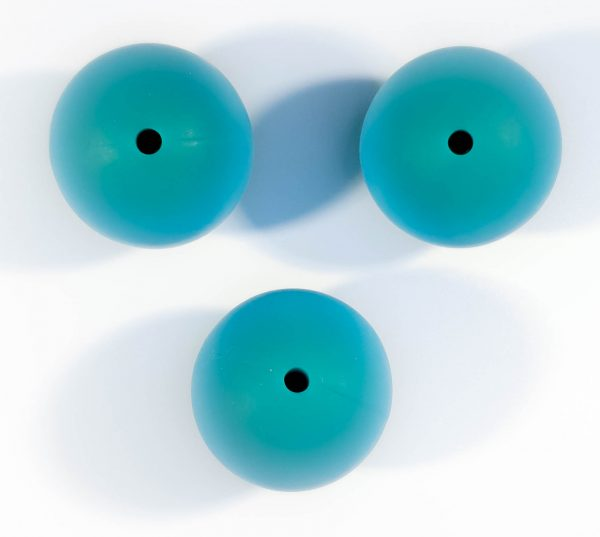 Siliconen kraal turquoise blauw