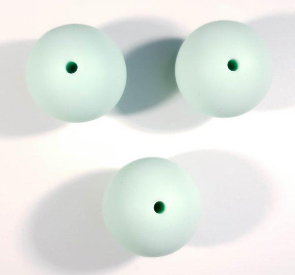 Siliconen kralen mint groen