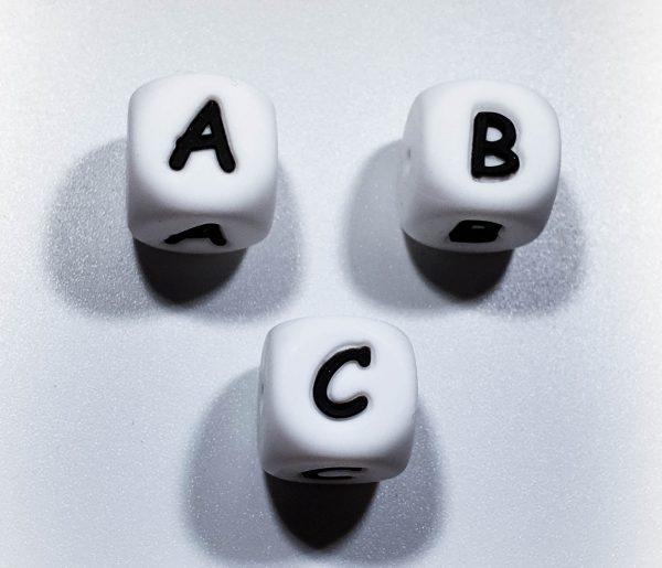Letterkralen siliconen letters