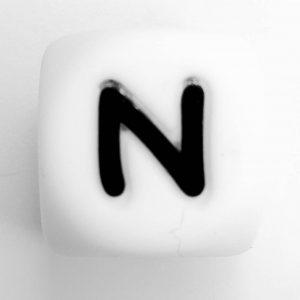 Siliconen letterkralen letter N