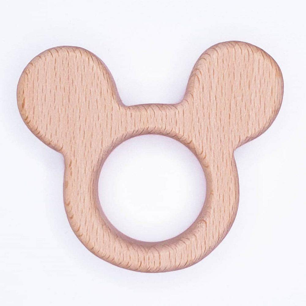Houten bijtring houten ring Mickey