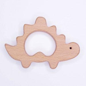 Houten bijtring houten ring dino