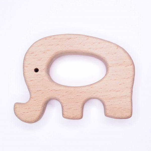 Houten bijtring houten ring olifant