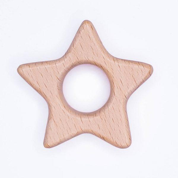 Houten bijtring houten ring ster