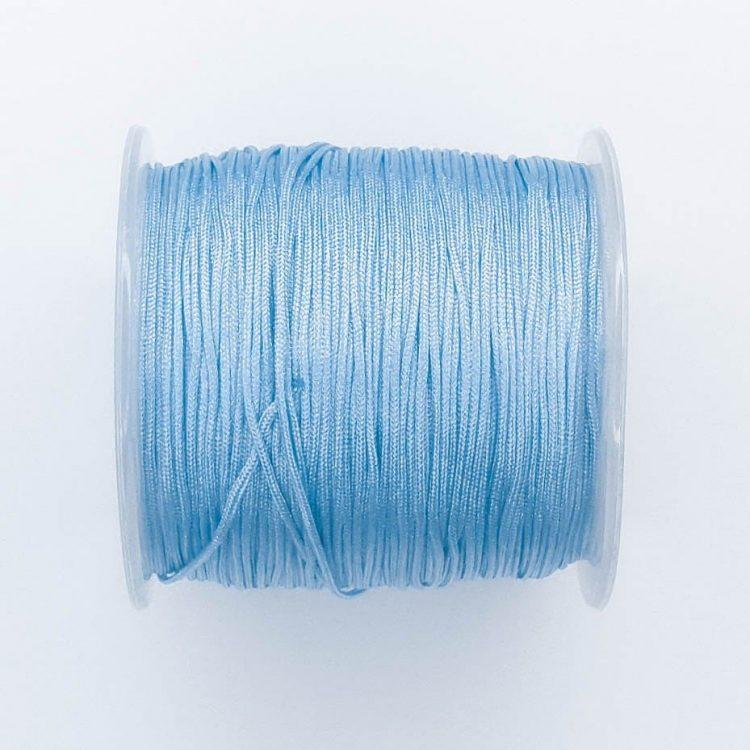 Satijnkoord blauw 1 mm