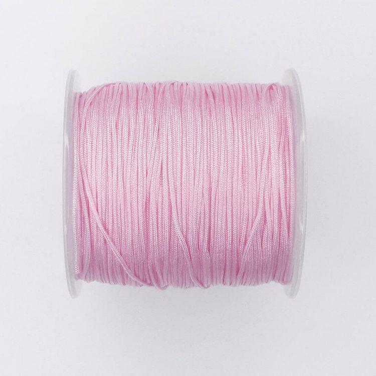 Satijnkoord roze 1 mm