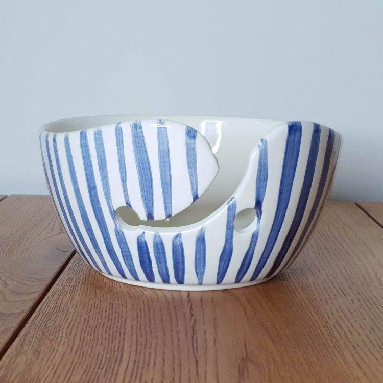 Yarn Bowl Delfts Blauw Verticale streep