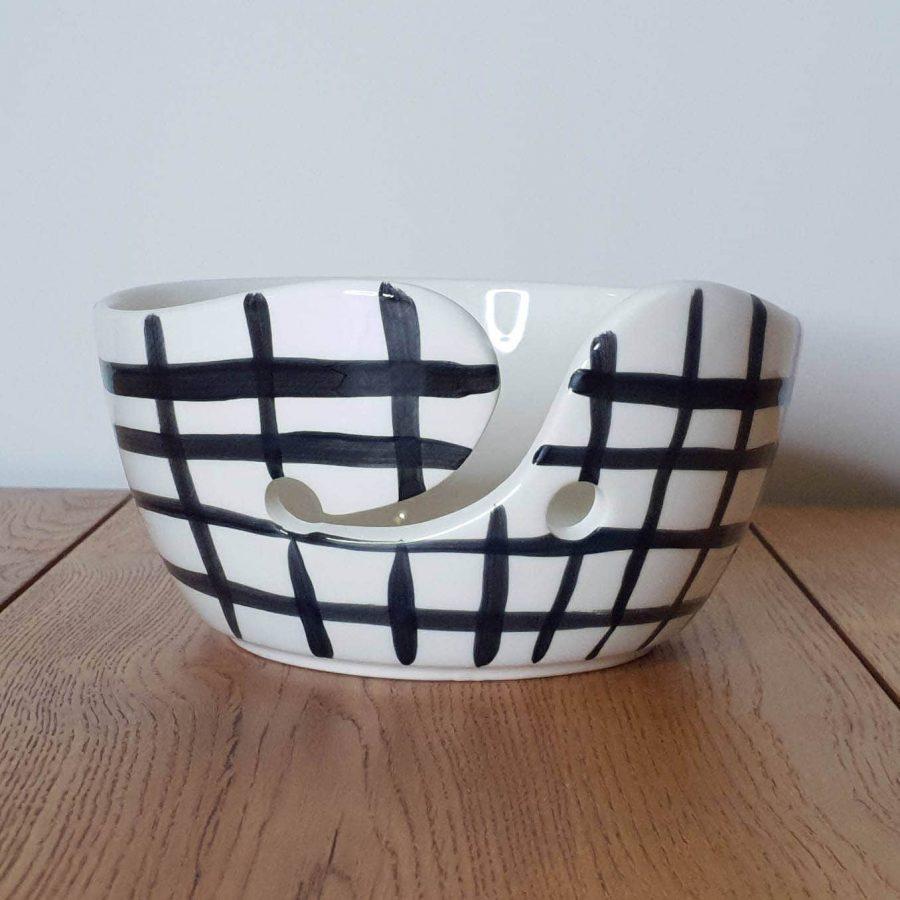 Yarn Bowl Delfts Zwart Raster