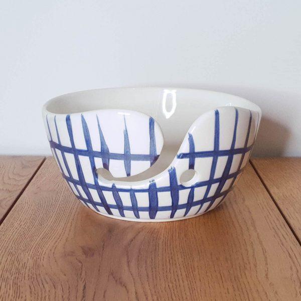 Yarn Bowl Delfts Blauw Raster