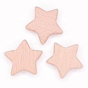Houten kralen ster