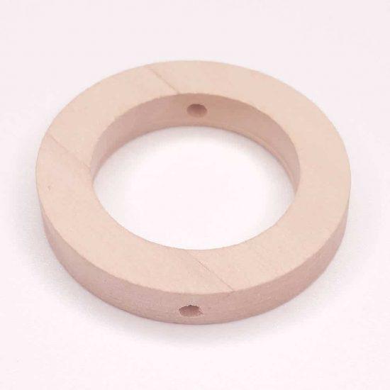 Houten ring met gaatjes voor rondom kraal