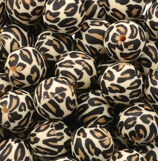 Luipaard - Panter - Koeienvlek/Dalmatiër - Confetti - Camouflage - Terrazzo - Siliconen kralen met print