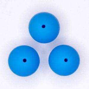 Siliconen kralen 20 mm Blauw