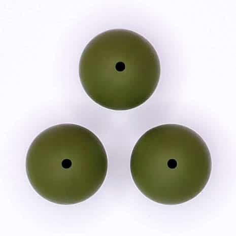 Siliconen kralen 20 mm Mos Groen