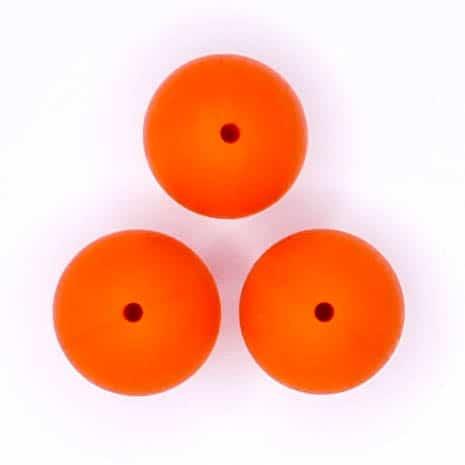 Siliconen kralen 20 mm Oranje