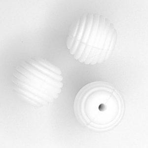 Siliconen kralen honingraat 16 mm wit