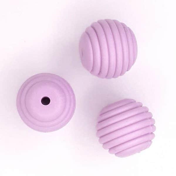 Siliconen kralen - 16 mm - Honingraat/Ribbel