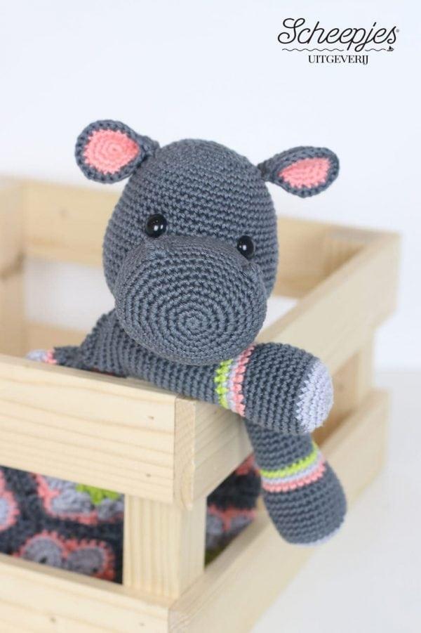 Knuffel dier pyjama zak nijlpaard