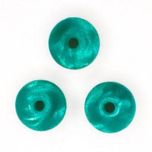 Siliconen kralen 12 mm ovaal Metallic Smaragd Groen