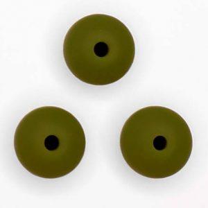 Siliconen kralen 12 mm ovaal Mos Groen