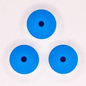 Siliconen kralen 12 mm ovaal blauw