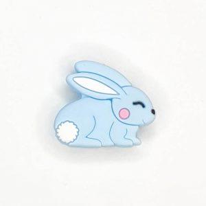 Siliconen kralen konijn blauw