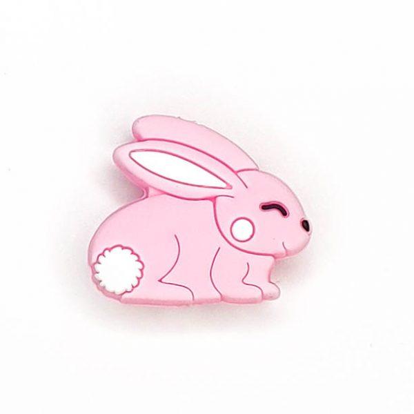Siliconen kralen konijn licht roze