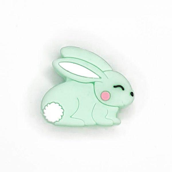 Siliconen kralen konijn mint groen