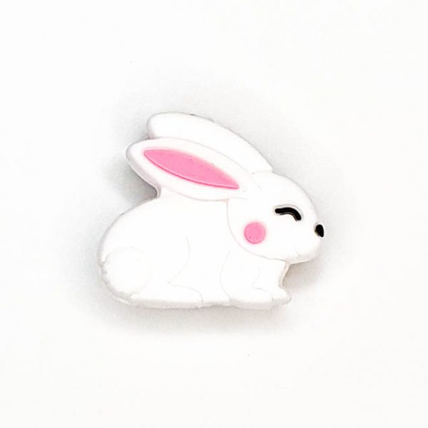 Siliconen kralen konijn wit
