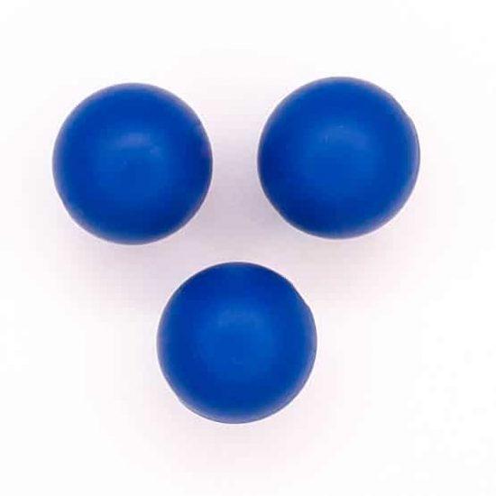 Siliconen kralen Navy Blauw 16 mm