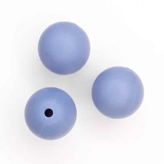 Siliconen kralen poeder blauw 16 mm