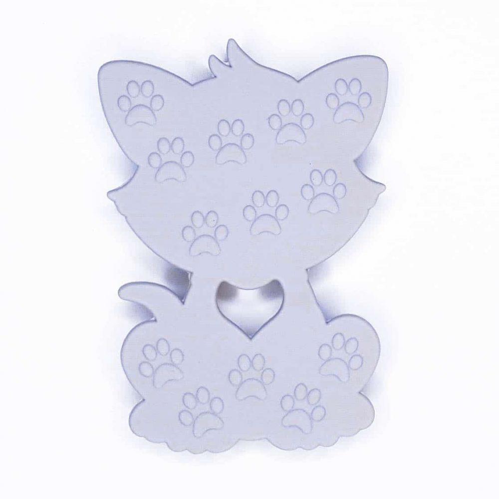 SIliconen bijtring bijtfiguur kat bijtring