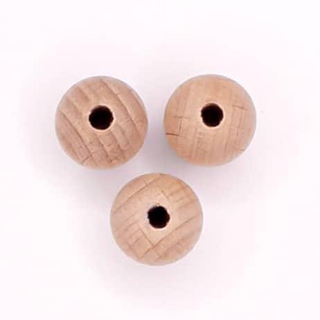 Houten kralen 12 mm Beuken hout hoge kwaliteit