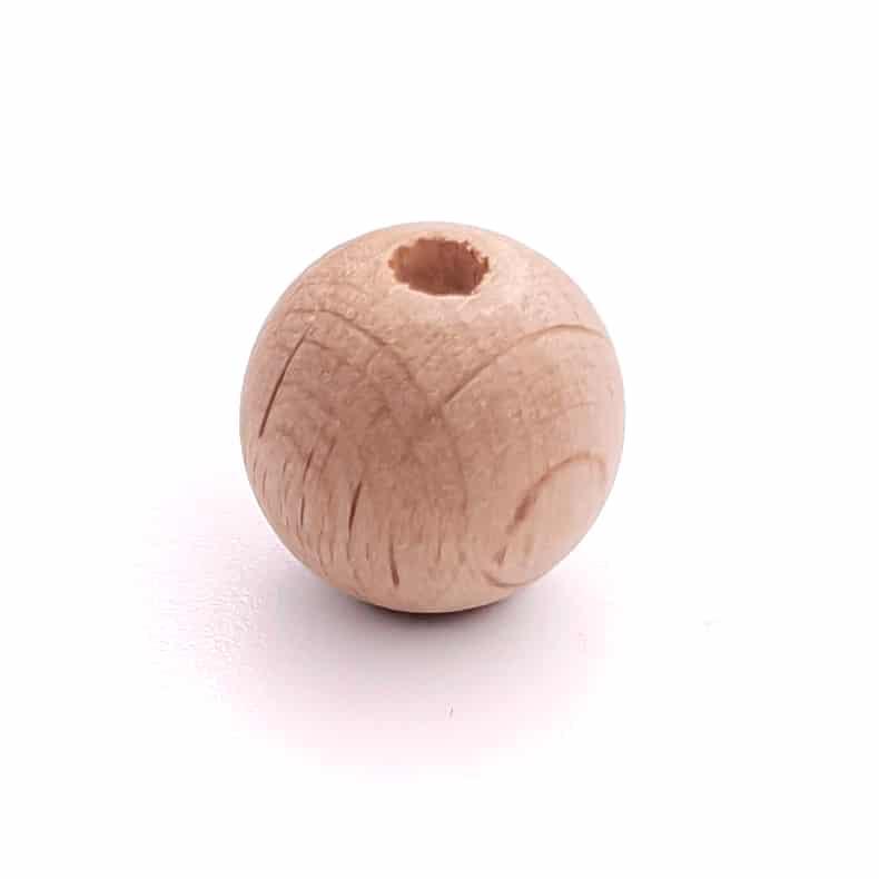 Houten kraal 12 mm Beuken hout hoge kwaliteit